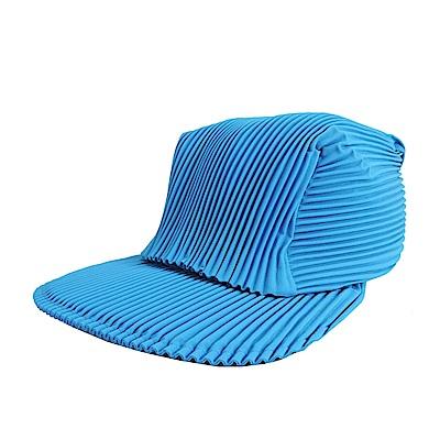 ISSEY MIYAKE 三宅一生PLEATS PLEASE褶紋鴨舌帽(海洋藍)