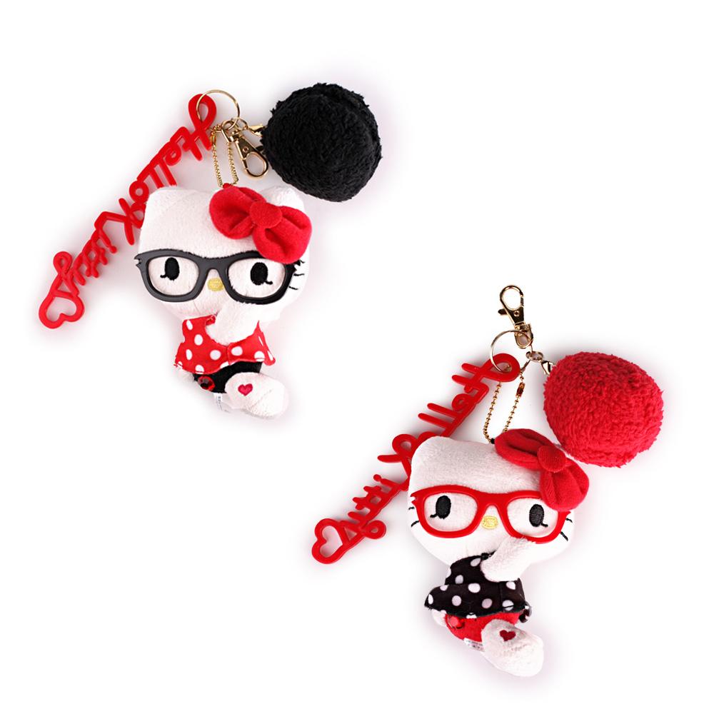 《Sanrio》HELLO KITTY俏皮鏡框系列玩偶吊飾(二款)