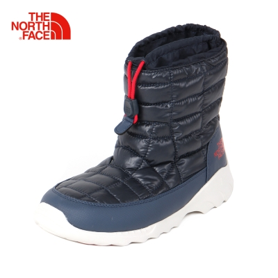 The North Face北面男款深藍色防潑水保暖滑雪鞋
