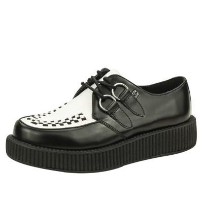 TUK VIVA輕量經典龐克鞋-3CM-黑/白