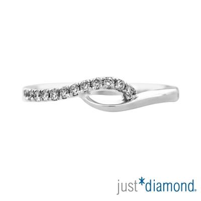 Just Diamond 18K金鑽石尾戒-綻漾