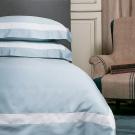 寬庭Kuans Living-珍藏一生-雙人四件式被套床包組(天使白+貴族藍底)