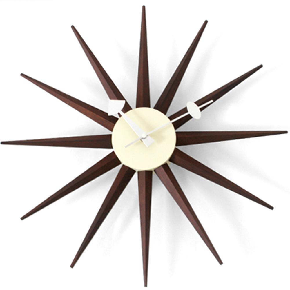 a.cerco  經典光芒鐘-Sunburst Clock-深木