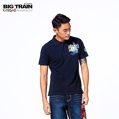BIG TRAIN 伊達政宗POLO衫-男-深藍