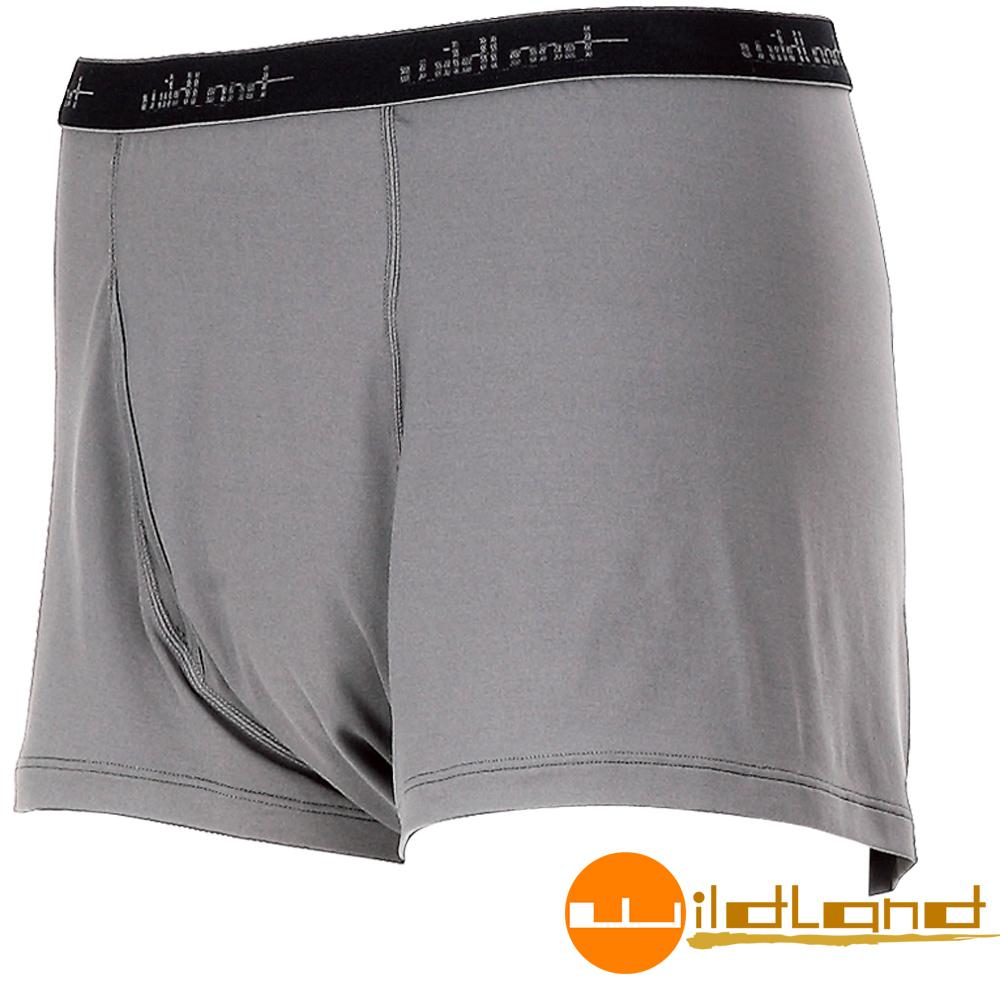 Wildland 荒野 透氣快乾排汗開洞四角褲/內褲 男W1680-90灰色