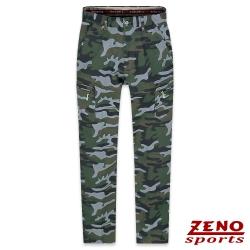 ZENO 保暖刷毛彈性迷彩休閒褲‧灰綠30-42