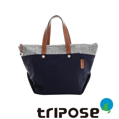 tripose 漫遊系列岩紋玩色立體外出包 海軍藍