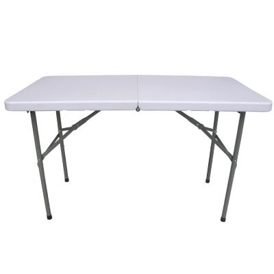 頂堅 (4尺寬)二段式可調整高低-對疊折疊桌/露營桌/野餐桌/拜拜桌-1入/組