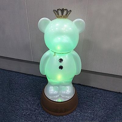 法國三寶貝 遙控LED泰迪熊夜燈