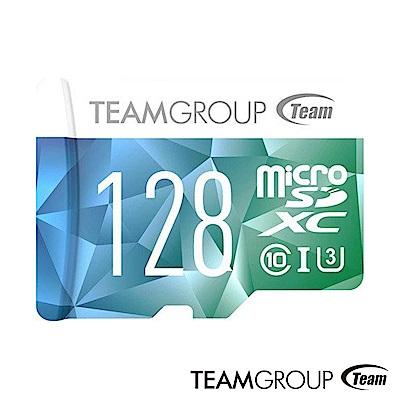 Team 十銓 128G U3 microSDXC UHS-I C10 夢幻炫彩記憶卡