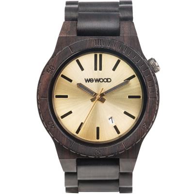WEWOOD 義大利日期視窗木頭錶 ARROW BLACK GOLD-烏木/46mm