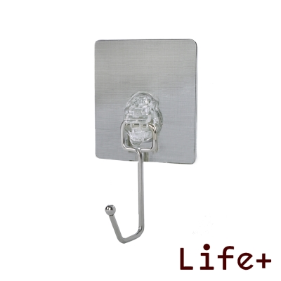 Life Plus 環保無痕魔力貼掛勾-單掛勾 (2入組)