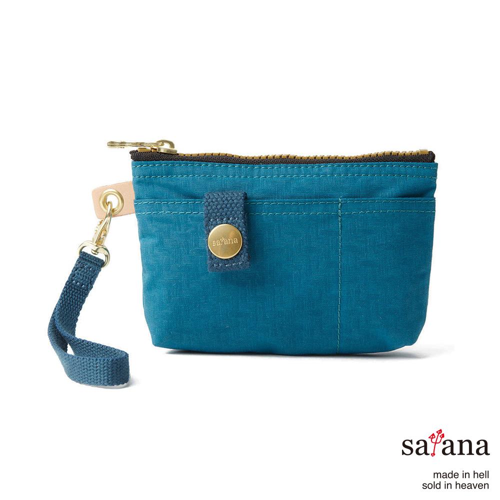 satana - 實用拉鍊化妝包/零錢包 - 深海藍