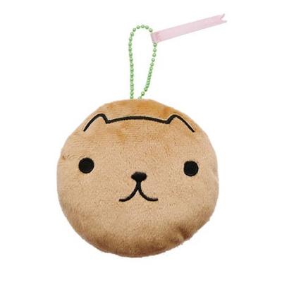 Kapibarasan 水豚君臉型馬卡龍造型吊飾。水豚君