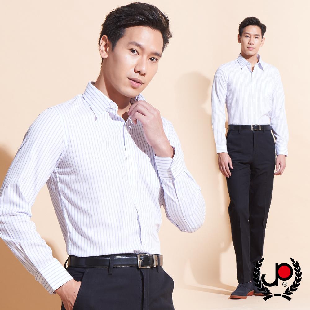 極品西服-大器品味直條紋長袖襯衫_白(SW032-80)