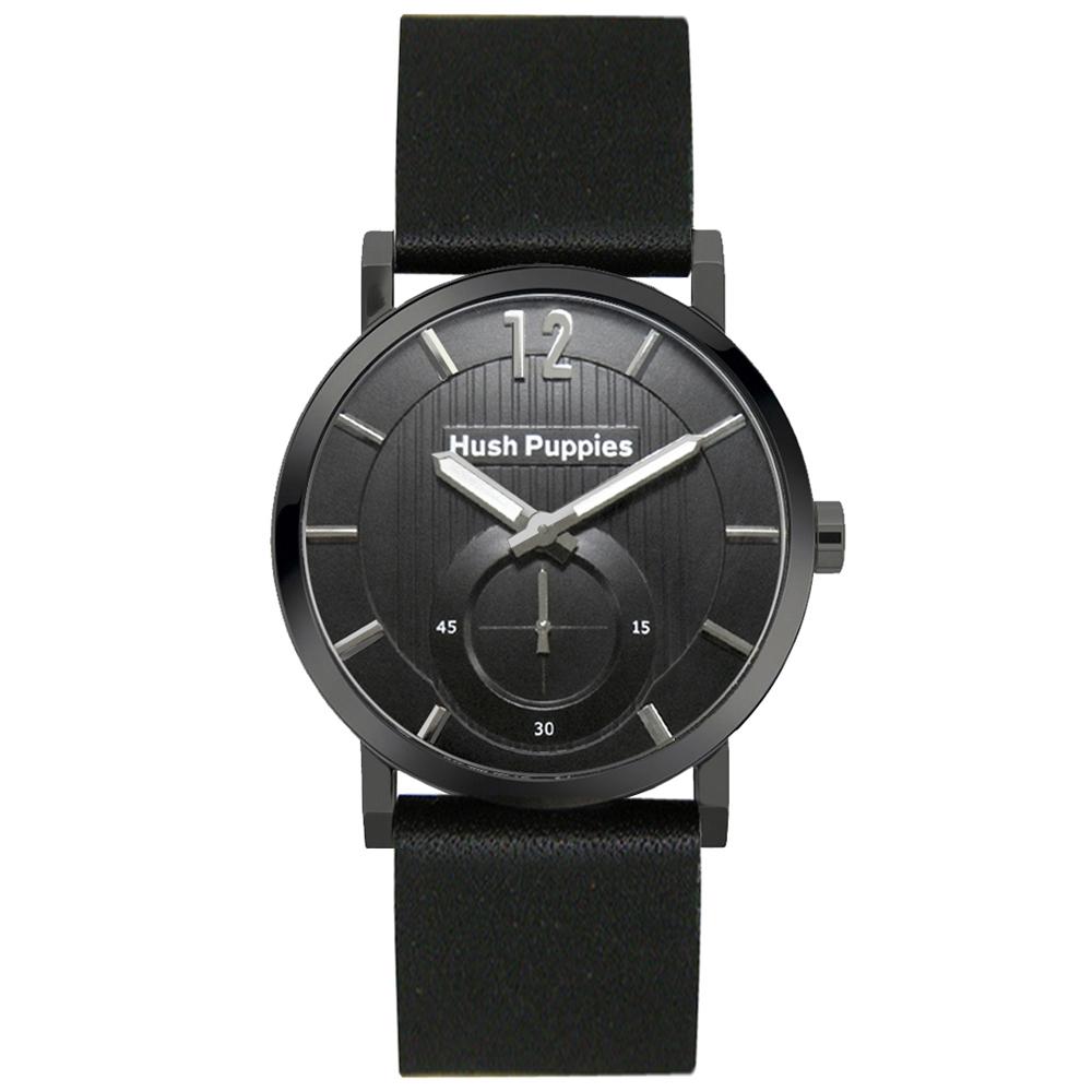 Hush Puppies 新經典品味設計腕錶-黑色/40mm