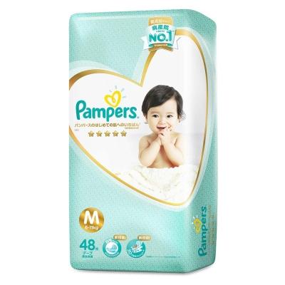 幫寶適 最高級系列新技術黏貼紙尿褲 境內量販版 M 48片x4包/箱