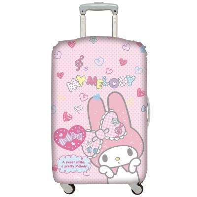 LOQI行李箱套 美樂蒂 粉紅L號 適用28吋行李箱