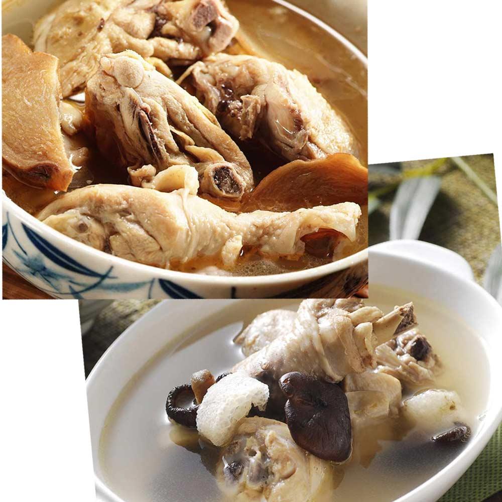 《百年吳家》廟口經典雙拼組合(麻油雞+狗尾雞)