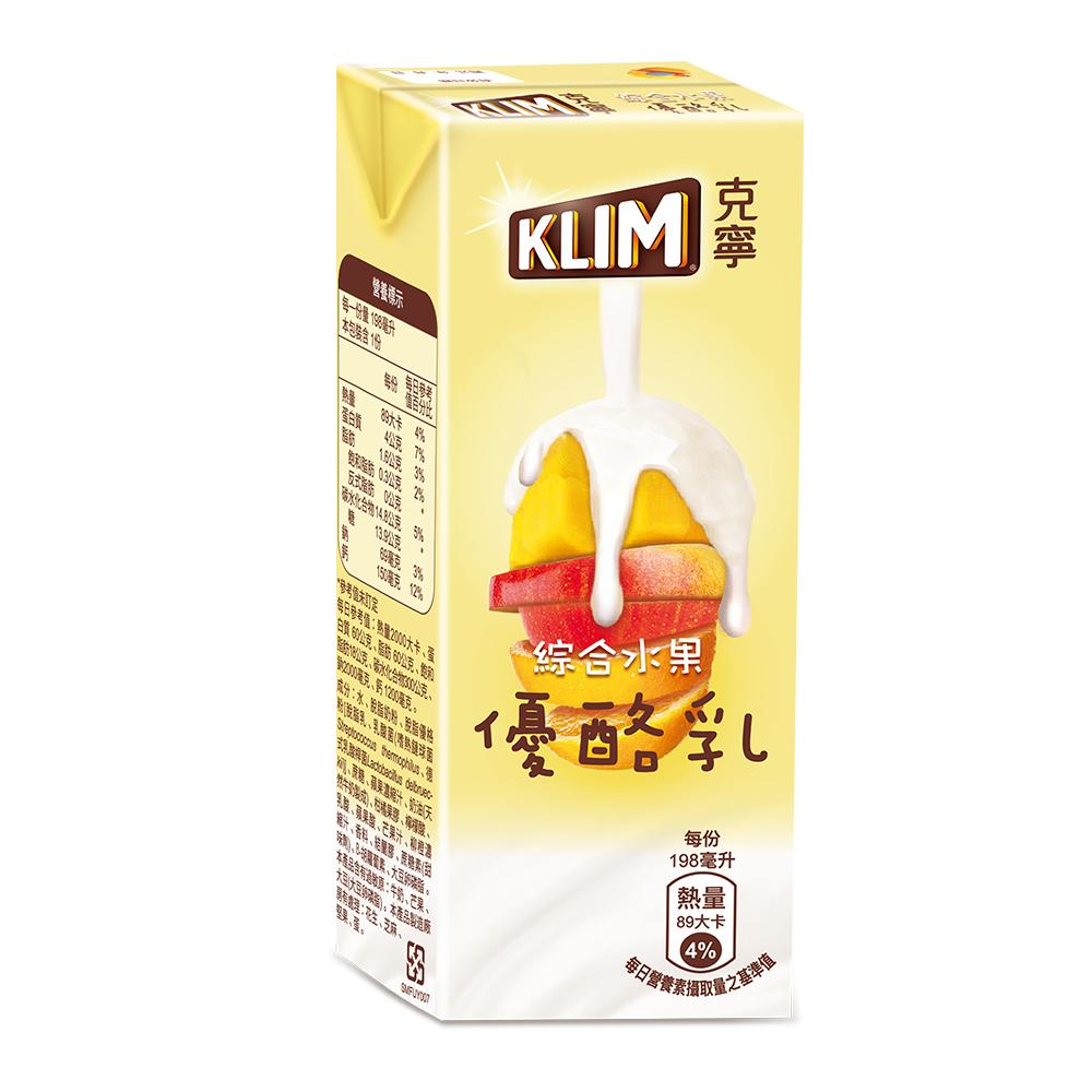 克寧綜合水果優酪乳(198mlx24入)
