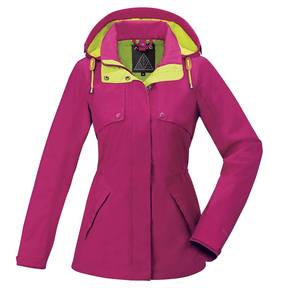 【ATUNAS 歐都納】女款防水透氣GORE-TEX風衣外套A-G1718W桃紅