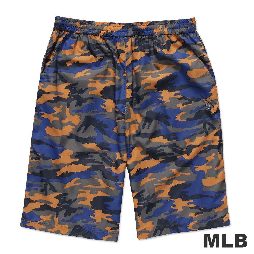 MLB-紐約洋基隊風衣布迷彩海灘褲-桔(男)