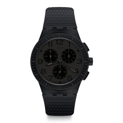 Swatch 原創系列 PIEGE 深沉酷黑手錶
