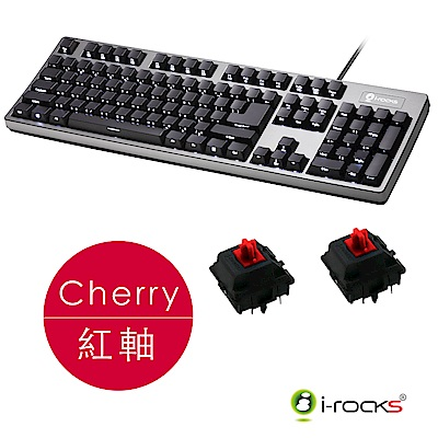 i-Rocks IRK68MS背光機械鍵盤-Cherry紅軸