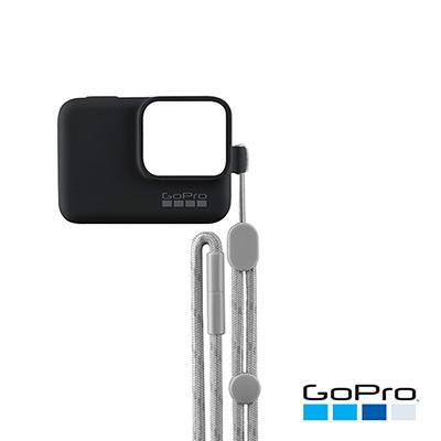 GoPro-HERO/5/6專用矽膠護套+繫繩 黑色ACSST-001