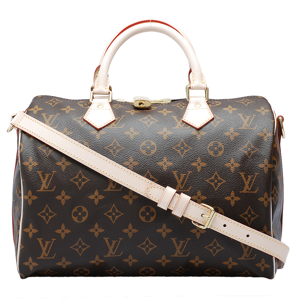LV M41112 經典Monogram SPEEDY 30 手提/斜背波士頓包
