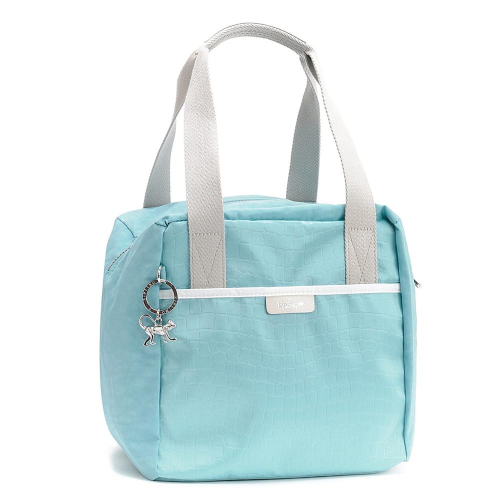 Kipling 淡藍素面手提包