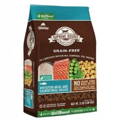 SUPREME SOURCE紐健士-無穀天然貓糧-鮭魚+蔬果3lb/1.36kg