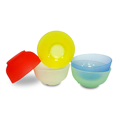 Mrs.home 食用安心-色彩多漾矽膠小碗