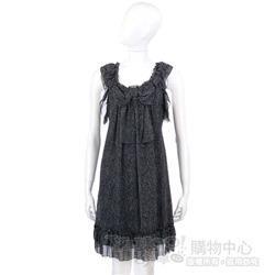 PAOLA FRANI 黑/白色點點蝴蝶結造型洋裝