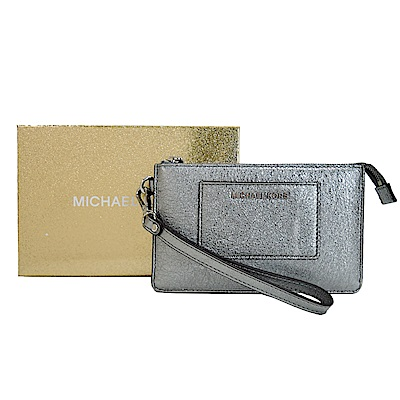 MICHAEL KORS WRISTLETS閃耀雙夾層手拿包(銀/盒裝)