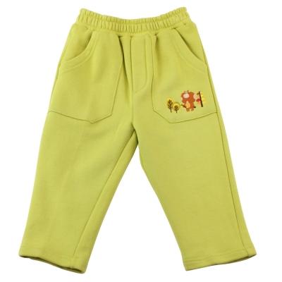 愛的世界 MYBEAR 森林家族純棉鬆緊帶長褲/1-2歲-台灣製-