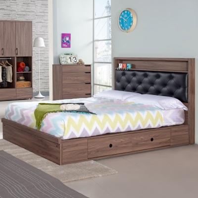 Homelike 克拉抽屜式床台組 雙人5尺