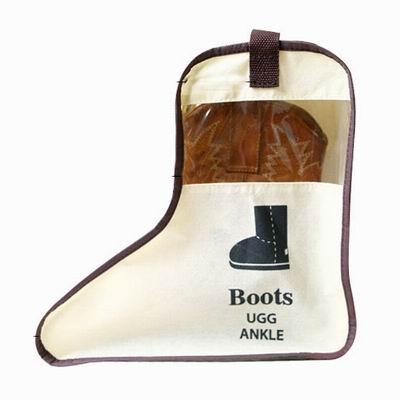 iSFun 鞋類收納 立體透視靴子防塵鞋袋 短版隨機色24x28x29cm