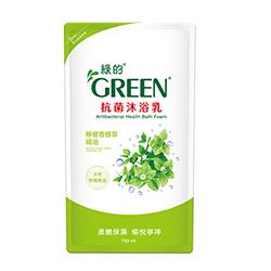 綠的GREEN 抗菌沐浴乳 檸檬香蜂草精油補充包700ml