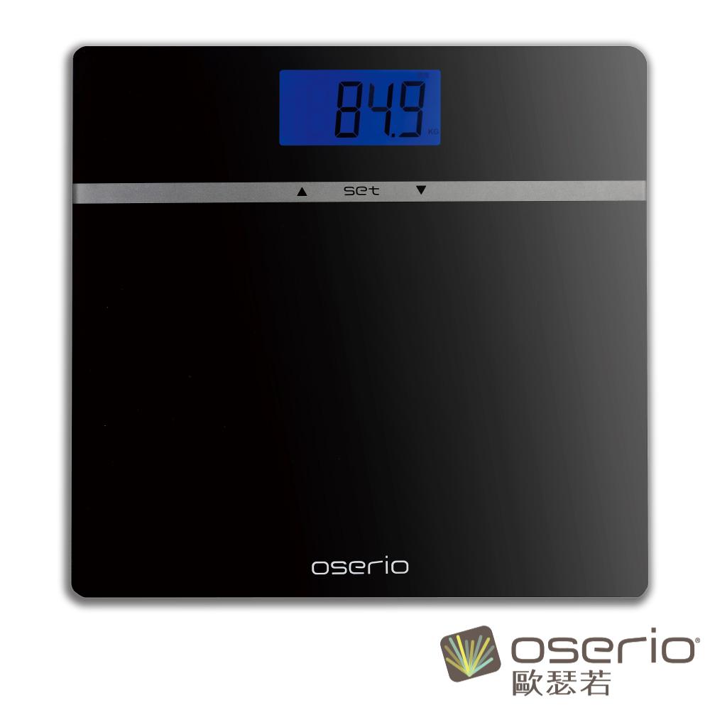 oserio歐瑟若 多功能BMI體重計 (晶鑽黑MES-210)