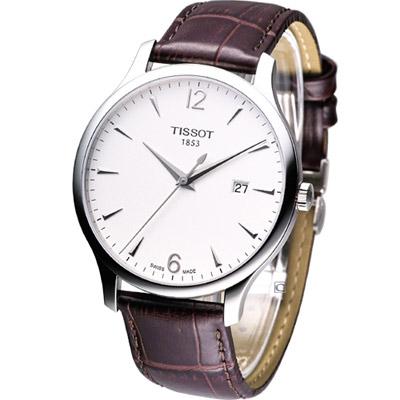 TISSOT T-TRADITION 極簡雅士時尚腕錶-白/42mm