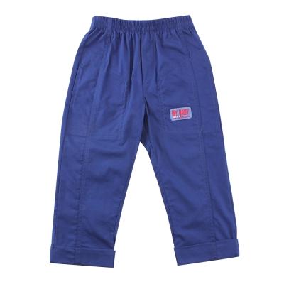 愛的世界 SUPERMINI 鬆緊帶雙邊口袋反折長褲/8~10歲