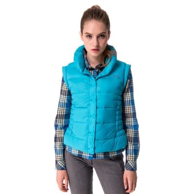 【hilltop山頂鳥】女款超撥水保暖蓄熱羽絨背心F25FG3藍