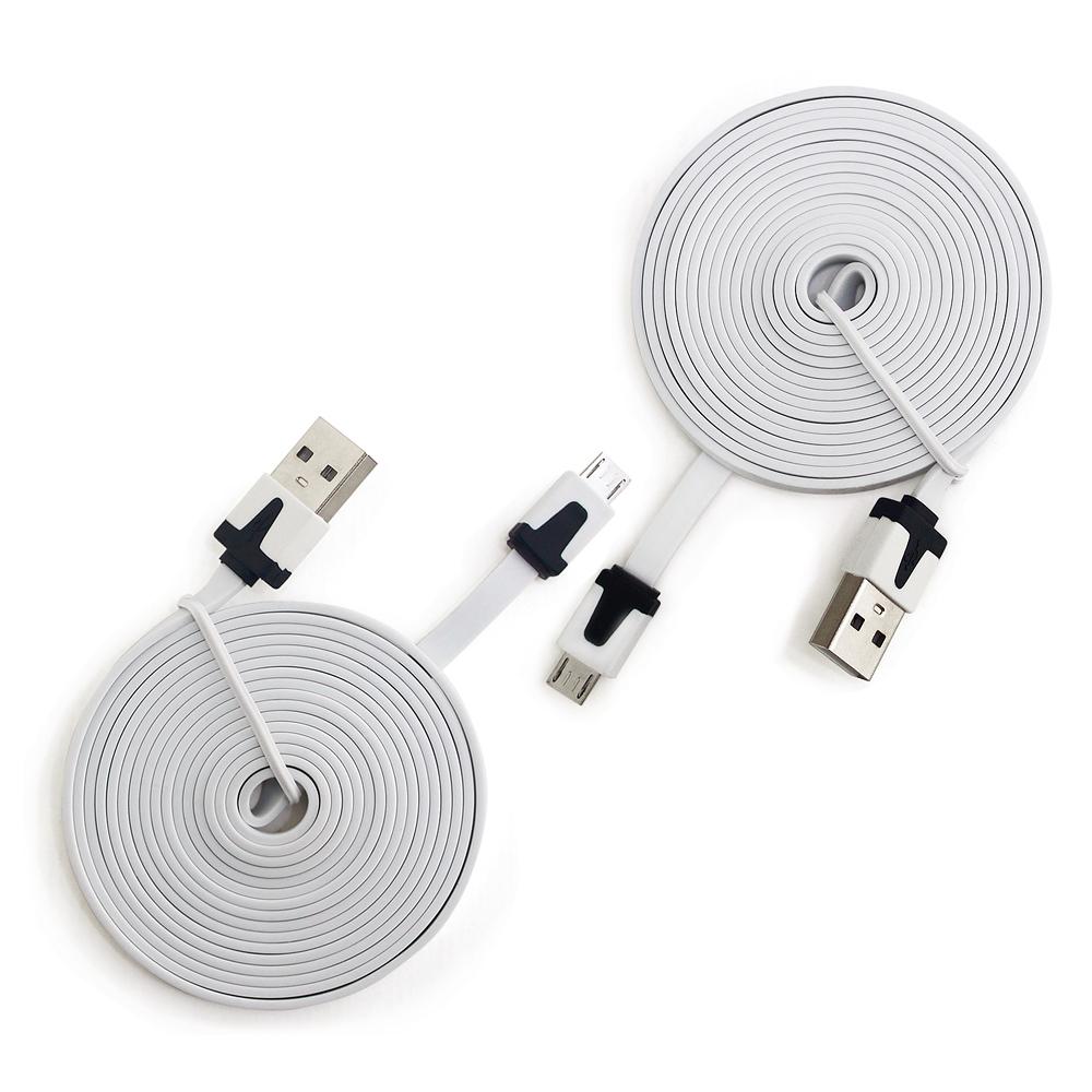 專業加長版2米長MICRO USB傳輸充電線  2條入