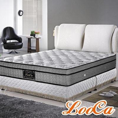 LooCa 英格蘭天絲護框獨立筒床枕毯組 加大