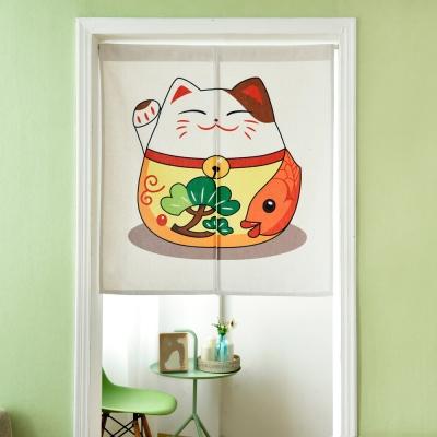 伊美居 - 錦鯉招財貓門簾 85cm x 90cm 1件