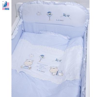 美國 L.A. Baby  田趣風光MIT純棉七件式寢具組- M (藍色/粉色)
