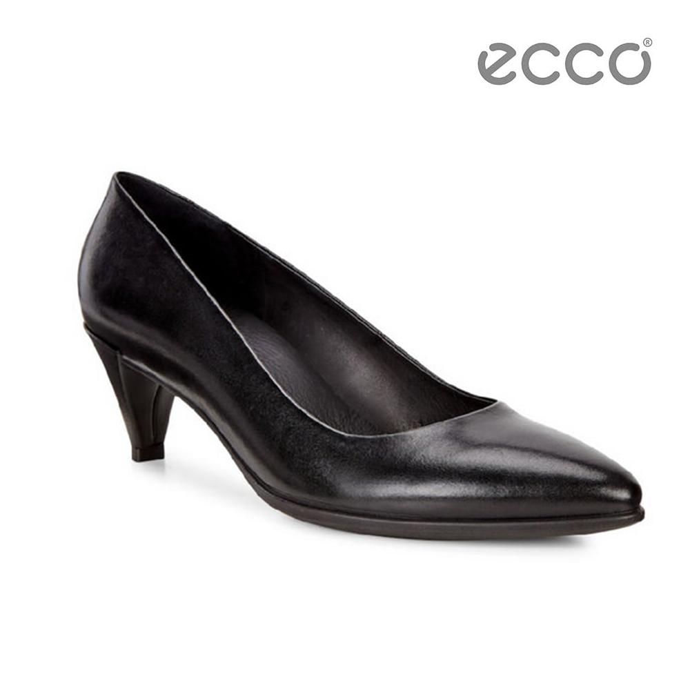ECCO SHAPE 45 POINTY SLEEK 經典細跟尖頭跟鞋-黑 @ Y!購物