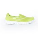 TOP GIRL-簡約健走無鞋帶懶人休閒鞋-螢光綠