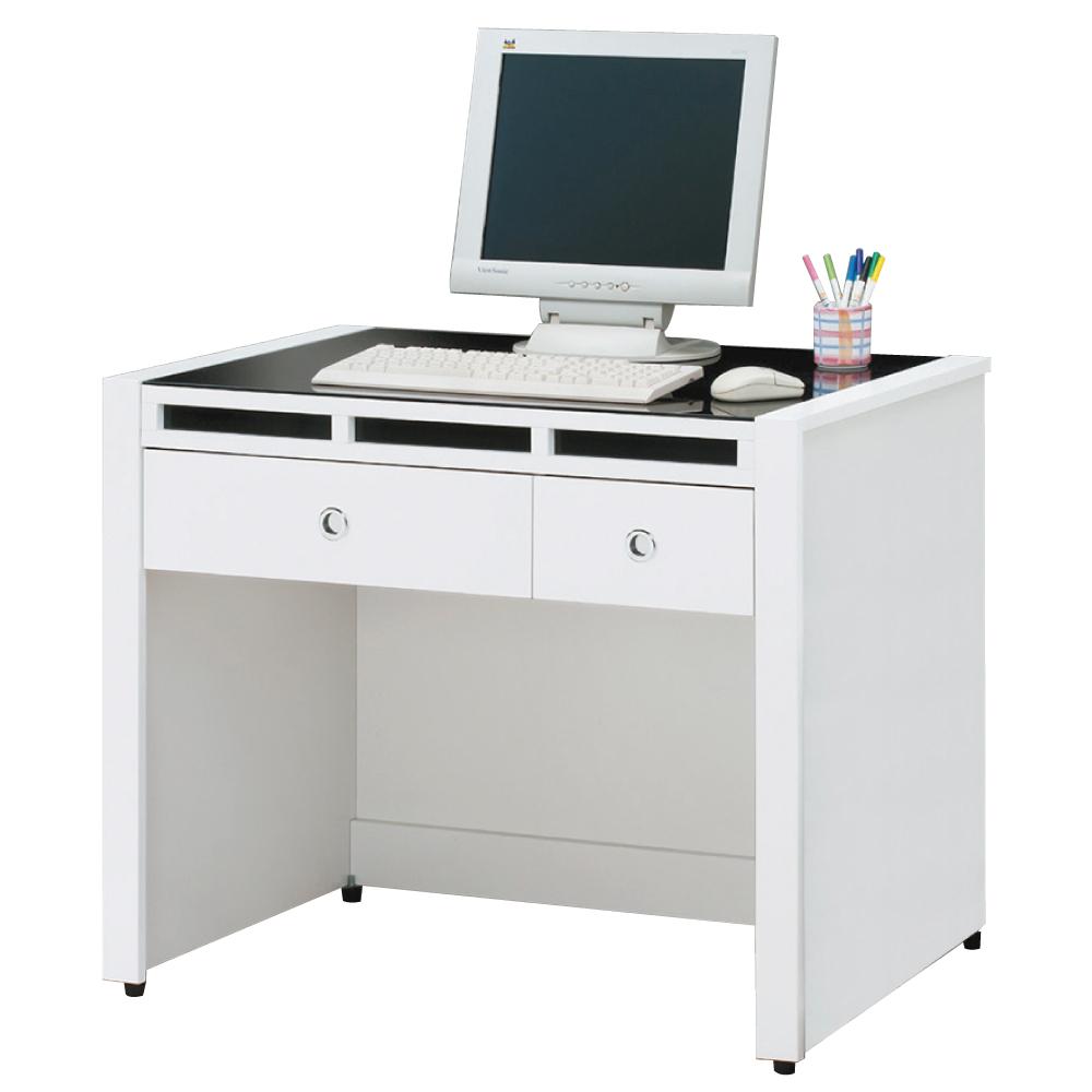 品家居 貝拉3.1尺白色書桌/電腦桌-92.4x60.6x78.8cm-免組